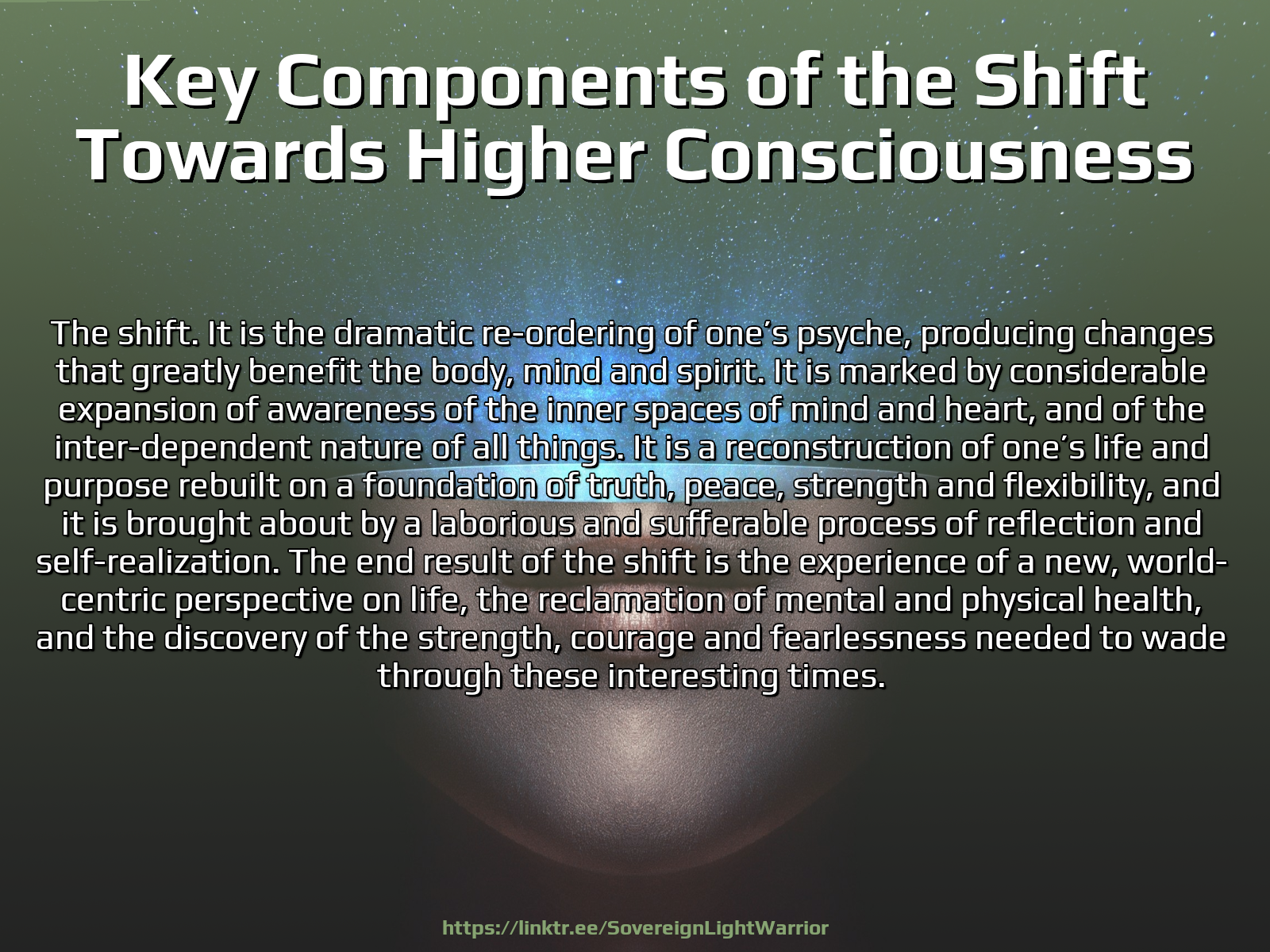 ➝ Key Components of the Shift Towards Higher Consciousness. – :The-Great-Work.