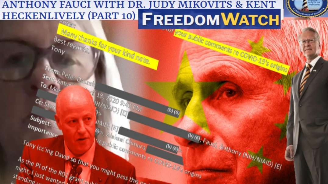INDICTMENT OF DR. ANTHONY FAUCI THROUGH ITS CITIZENS' GRAND JURY [part 1 of 2]